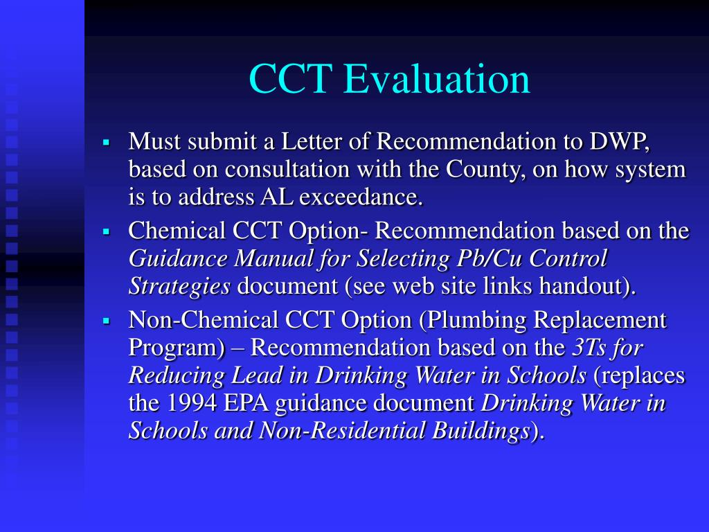 CCT Evaluation