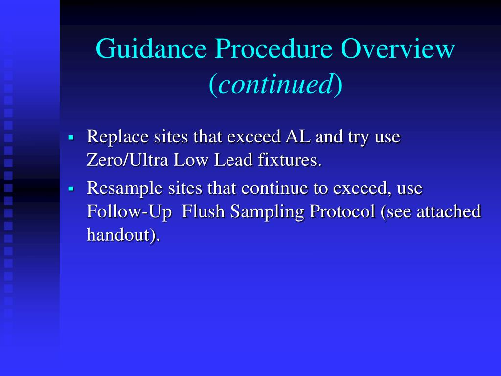 Guidance Procedure