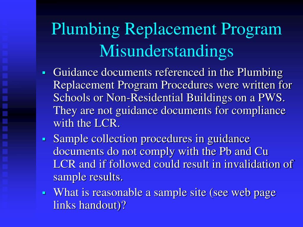 Plumbing Replacement Program Misunderstandings