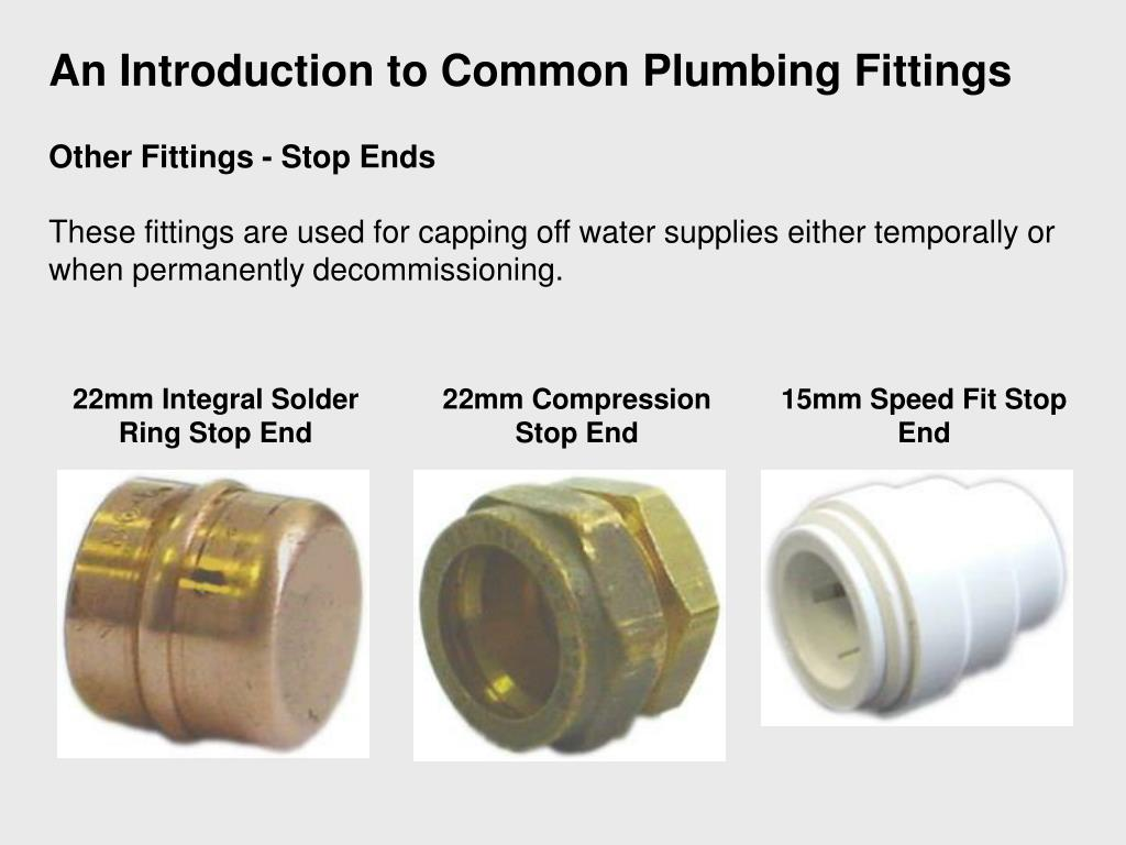 An Introduction to Common Plumbing Fittings
