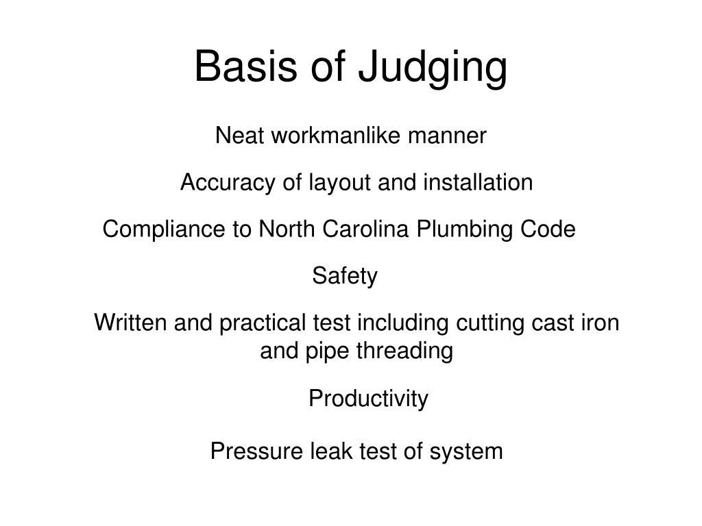 Basis of Judging