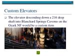 custom elevators