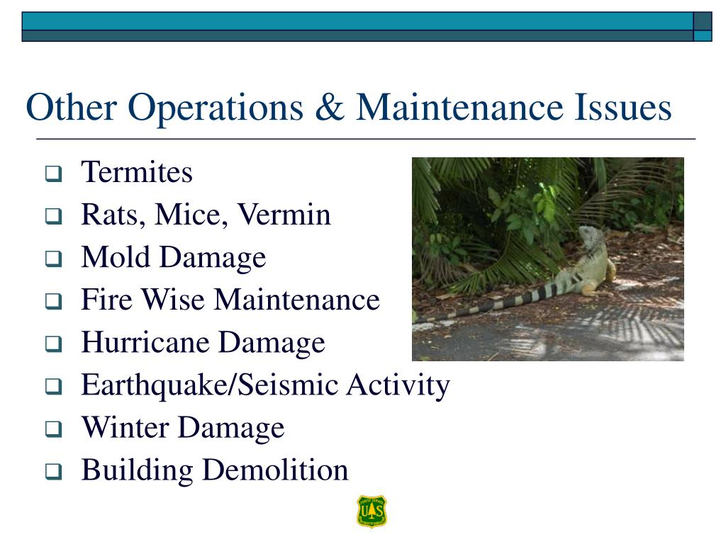 Other Operations & Maintenance Issues