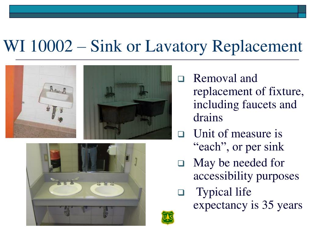 Removal and replacement of fixture, including faucets and drains