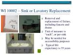 wi 10002 sink or lavatory replacement