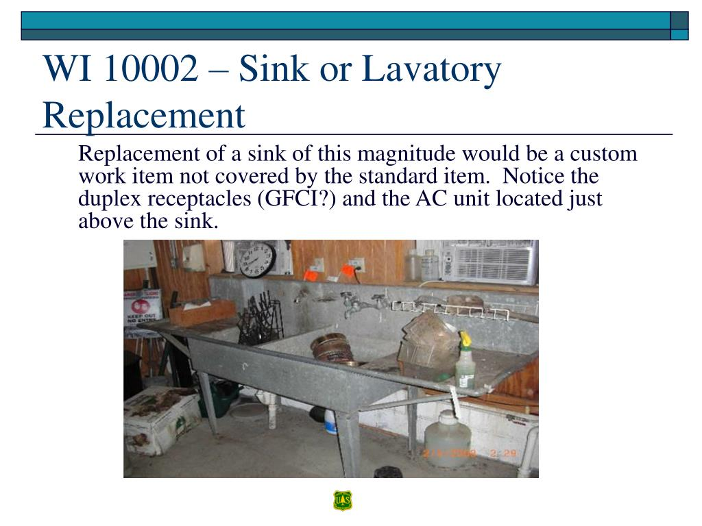 WI 10002 – Sink or Lavatory Replacement