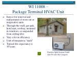 wi 11008 package terminal hvac unit