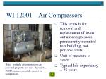 wi 12001 air compressors