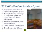 wi 13006 fire security alarm system