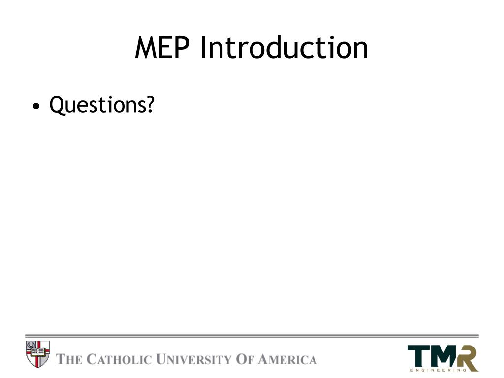 MEP Introduction