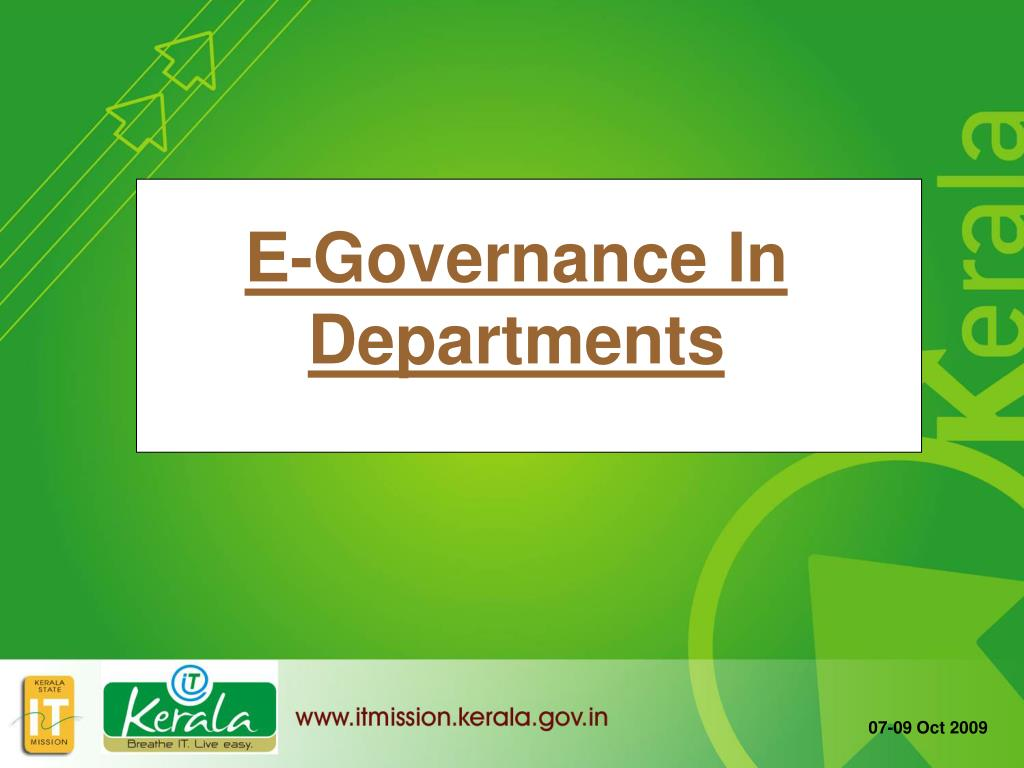 E-Governance In Departments
