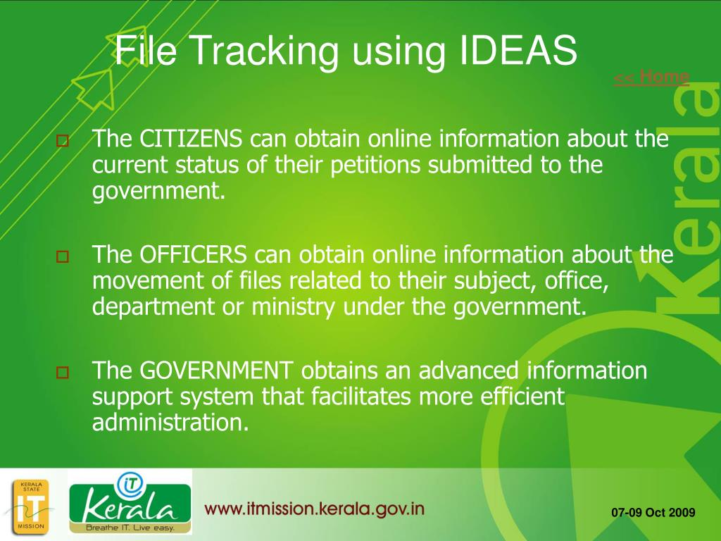 The CITIZENS can obtain online information about the current status of their petitions submitted to the government.