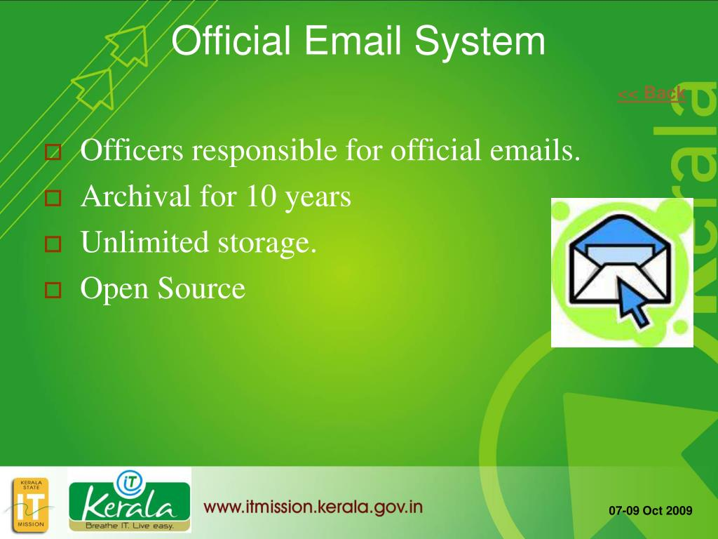 Officers responsible for official emails.