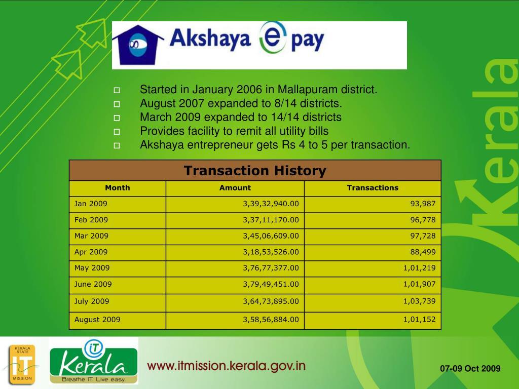 Started in January 2006 in Mallapuram district.