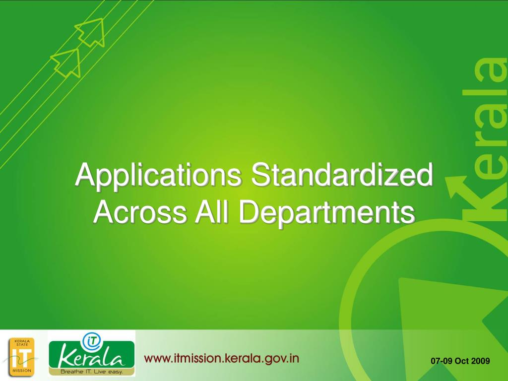 Applications Standardized Across All Departments