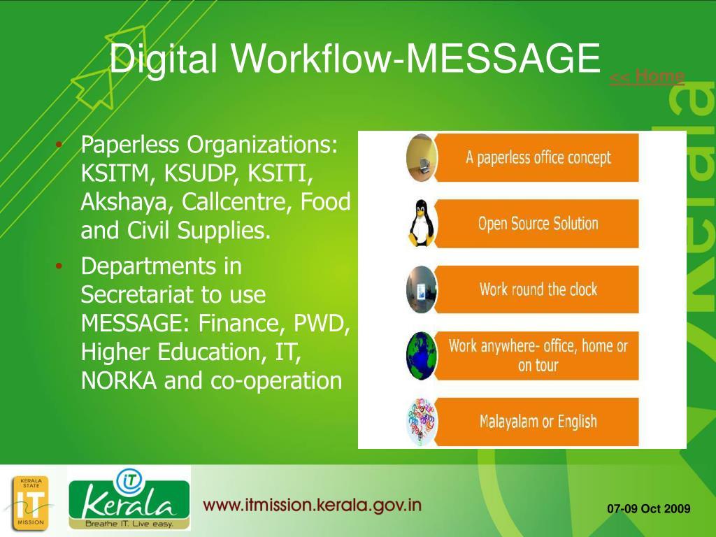 Digital Workflow-MESSAGE