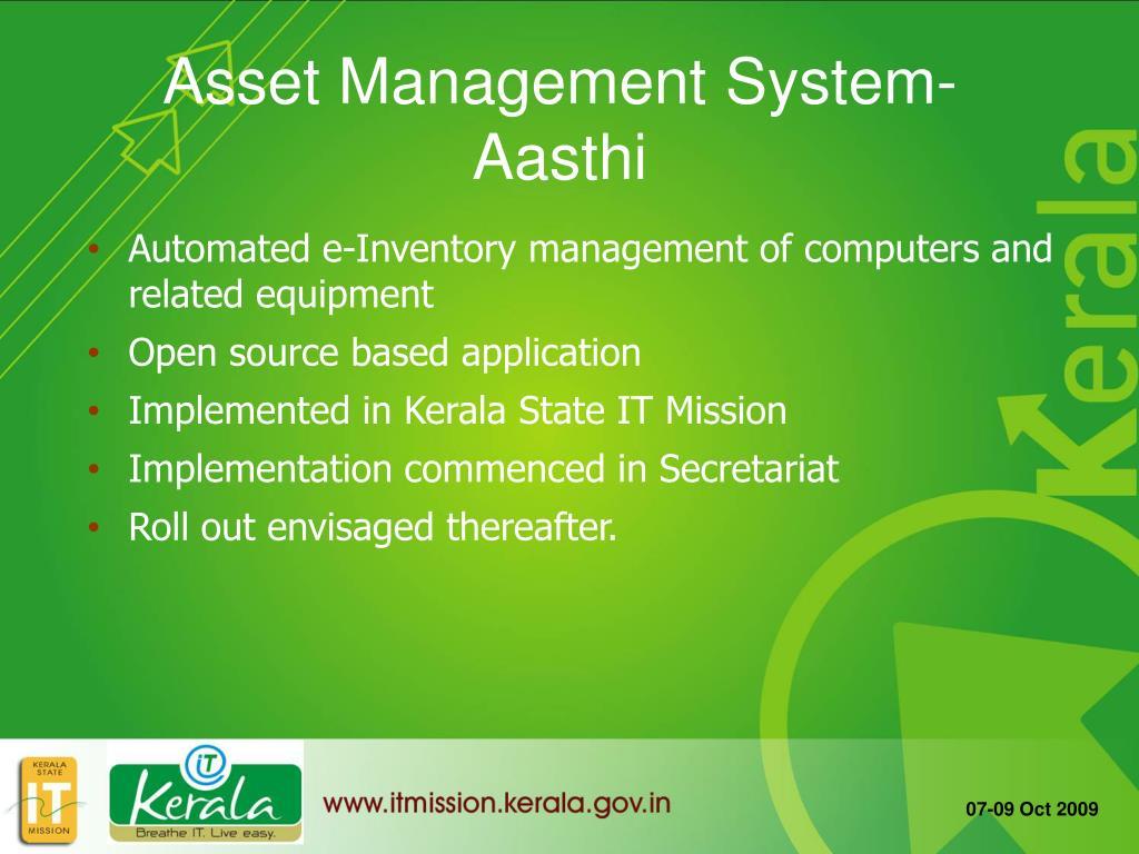 Asset Management System- Aasthi