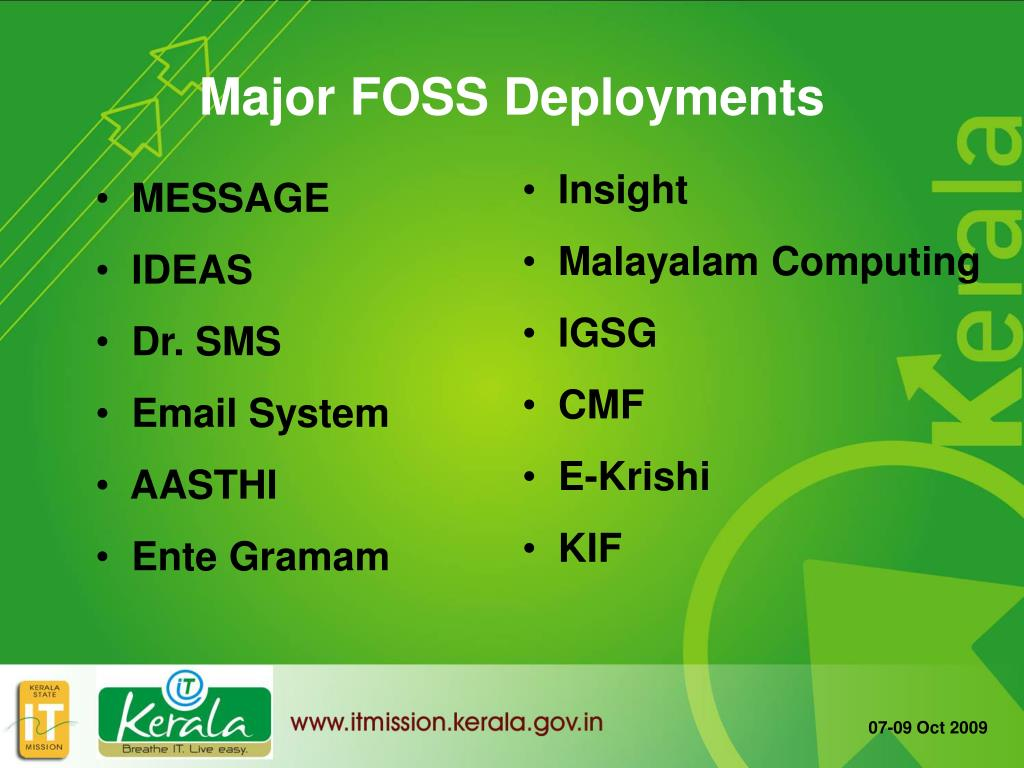 Major FOSS Deployments