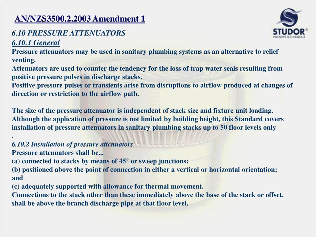 AN/NZS3500.2.2003 Amendment 1