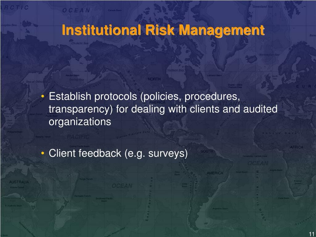 Institutional Risk Management