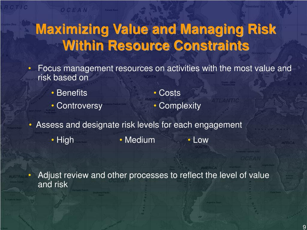 Maximizing Value and Managing Risk Within Resource Constraints