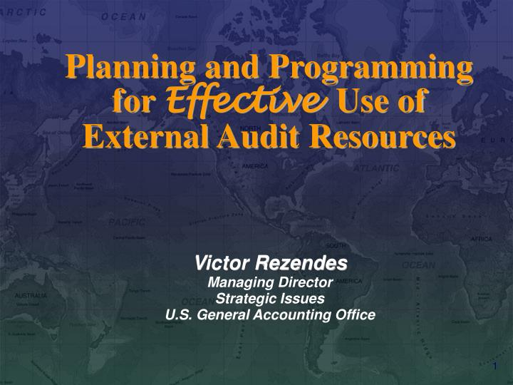 Planning and programming for effective use of external audit resources l.jpg