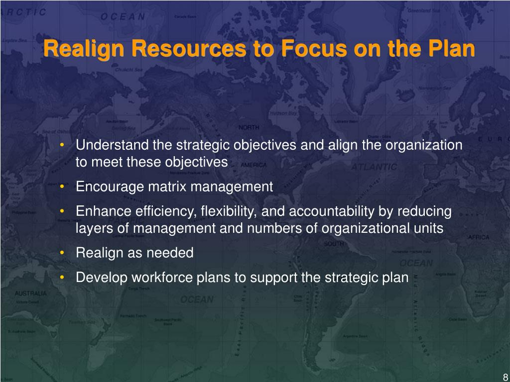 Realign Resources to Focus on the Plan