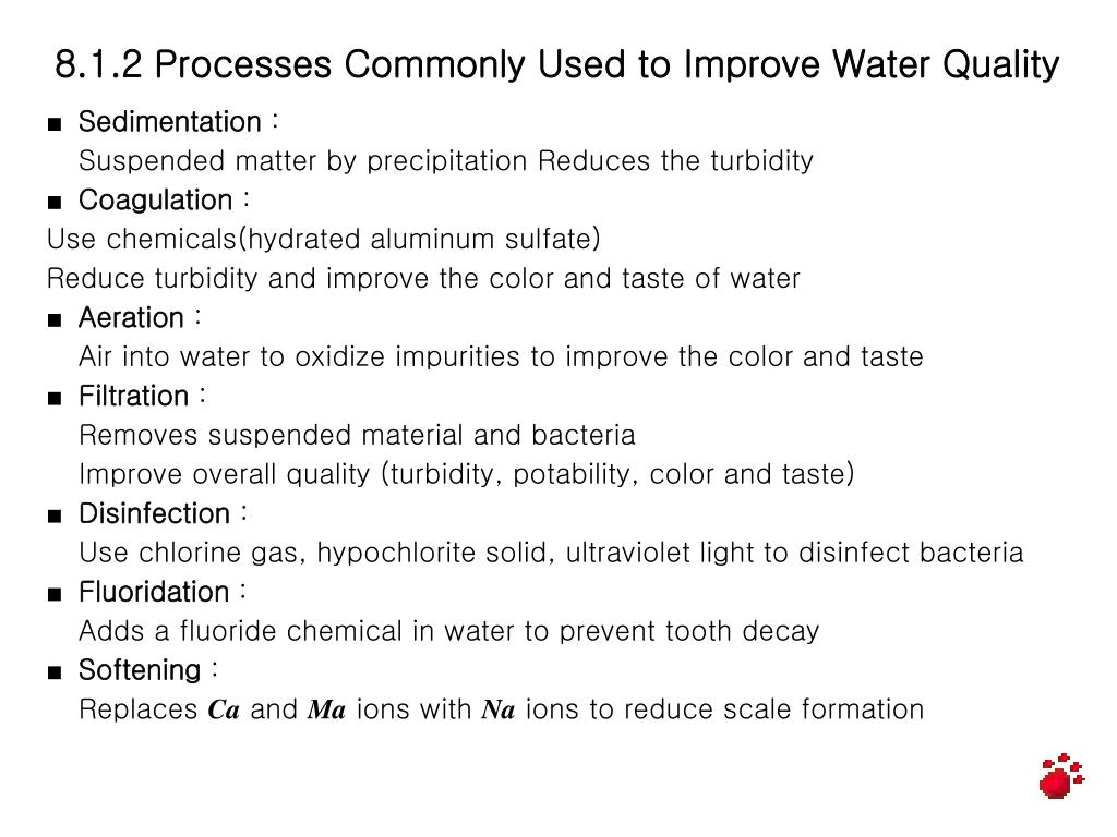 8.1.2 Processes Commonly Used to Improve Water Quality