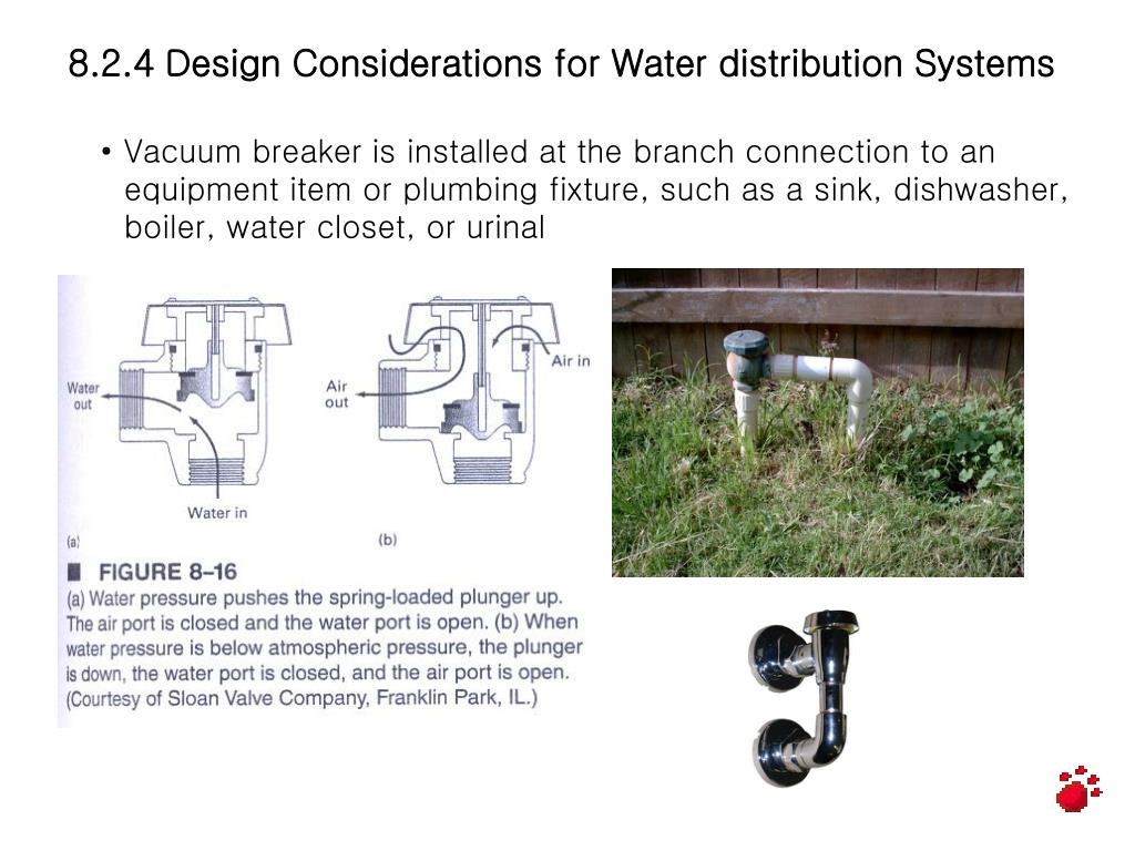 8.2.4 Design Considerations for Water distribution Systems