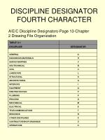 discipline designator fourth character