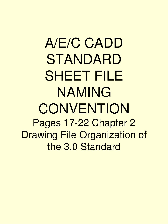 A/E/C CADD STANDARD