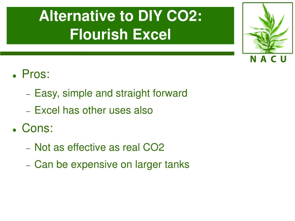 Alternative to DIY CO2: