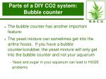 parts of a diy co2 system bubble counter33