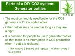 parts of a diy co2 system generator bottles