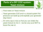 parts of a diy co2 system yeast mixture19