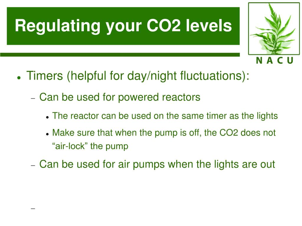 Regulating your CO2 levels