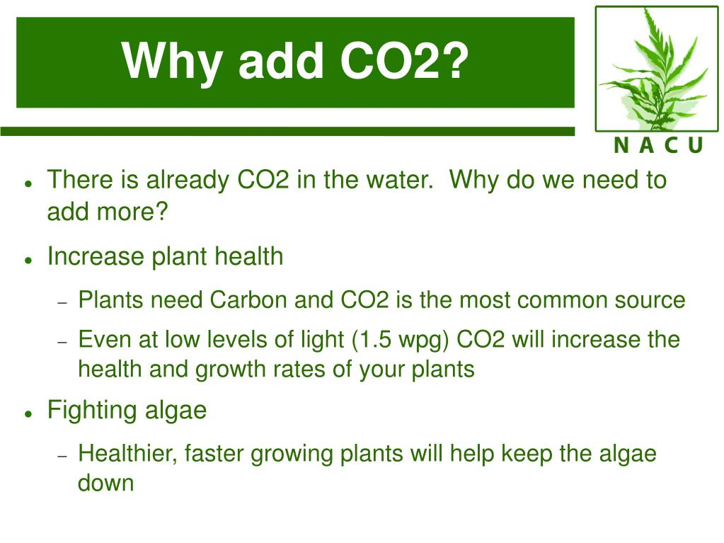 Why add CO2?