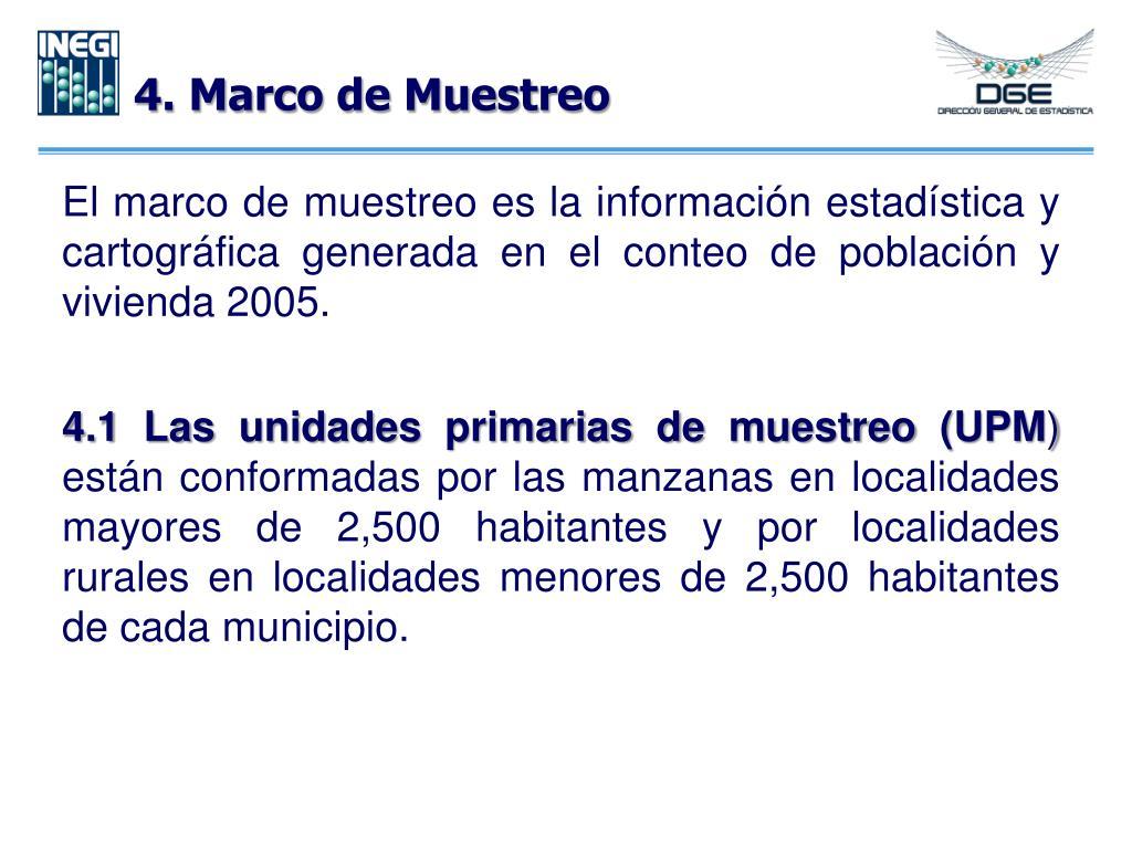 4. Marco de Muestreo