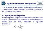 9 ajuste a los factores de expansi n