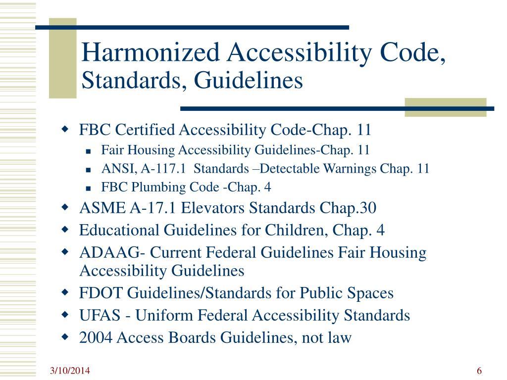 Harmonized Accessibility Code,