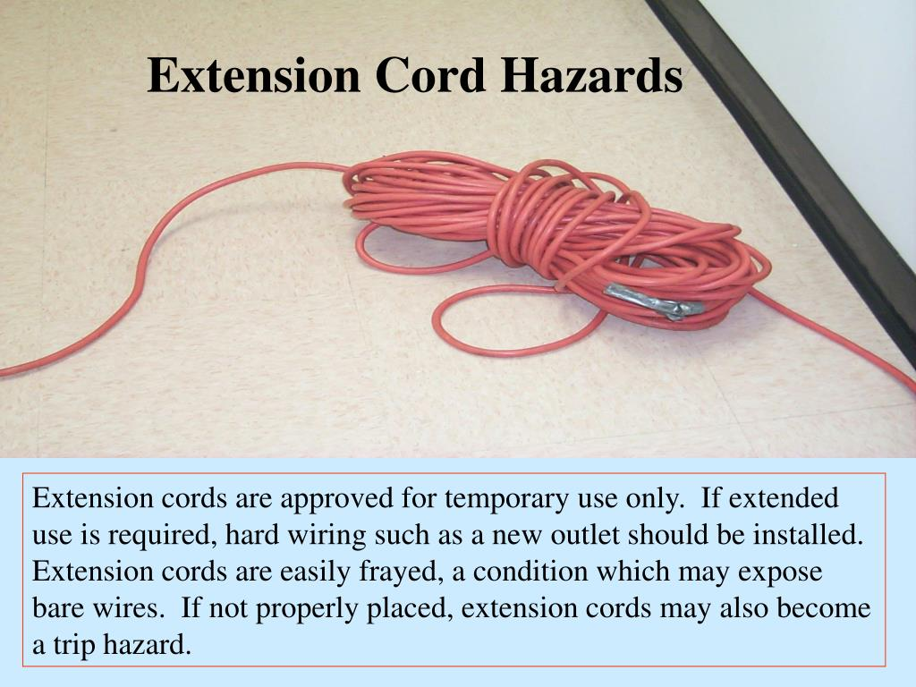Extension Cord Hazards