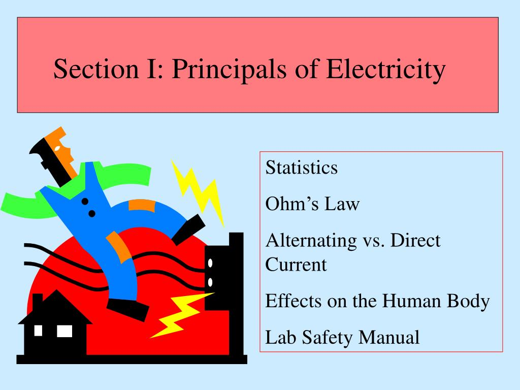 Section I: Principals of Electricity