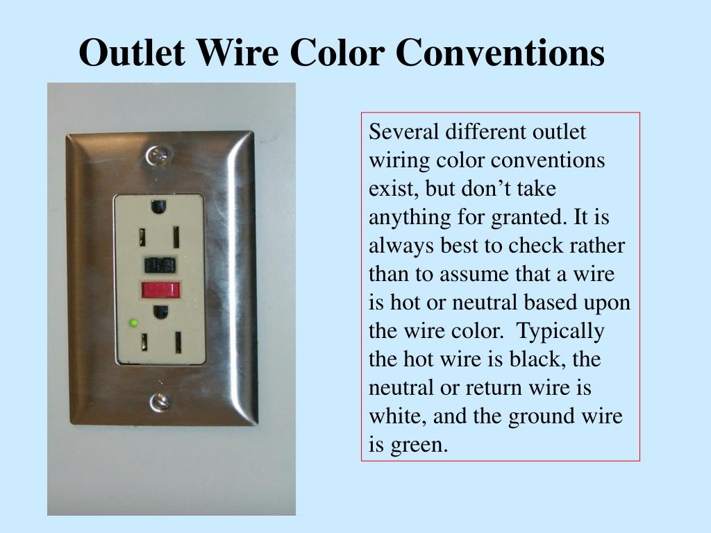Outlet Wire Color Conventions