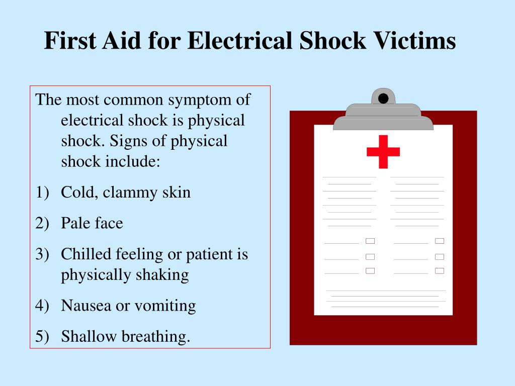 First Aid for Electrical Shock Victims