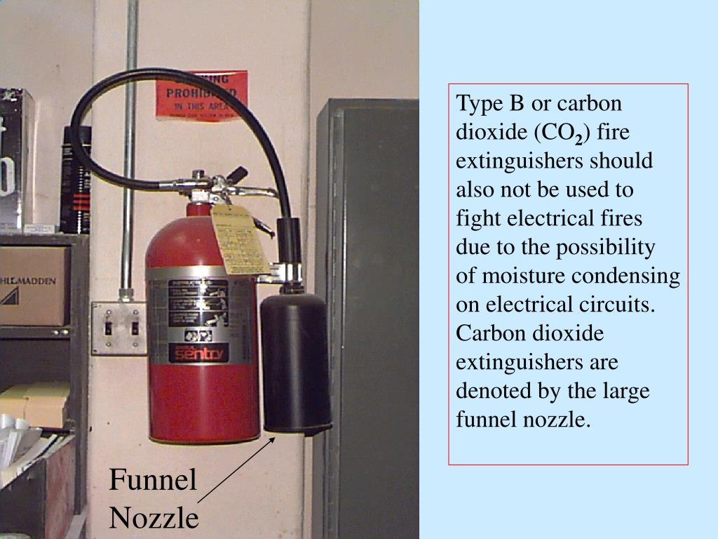 Type B or carbon dioxide (CO