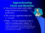 apprenticeship facts and benefits