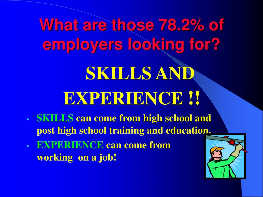 What are those 78.2% of employers looking for?