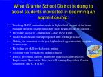 what granite school district is doing to assist students interested in beginning an apprenticeship