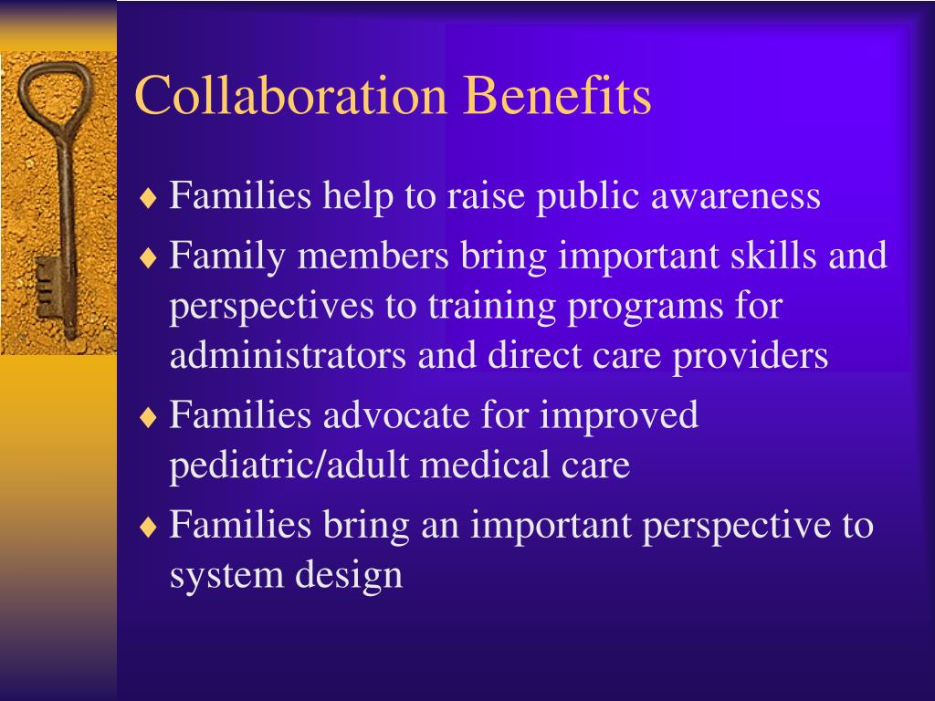 Collaborative Teaching Benefits ~ Ppt family centered care practice psychosocial issues