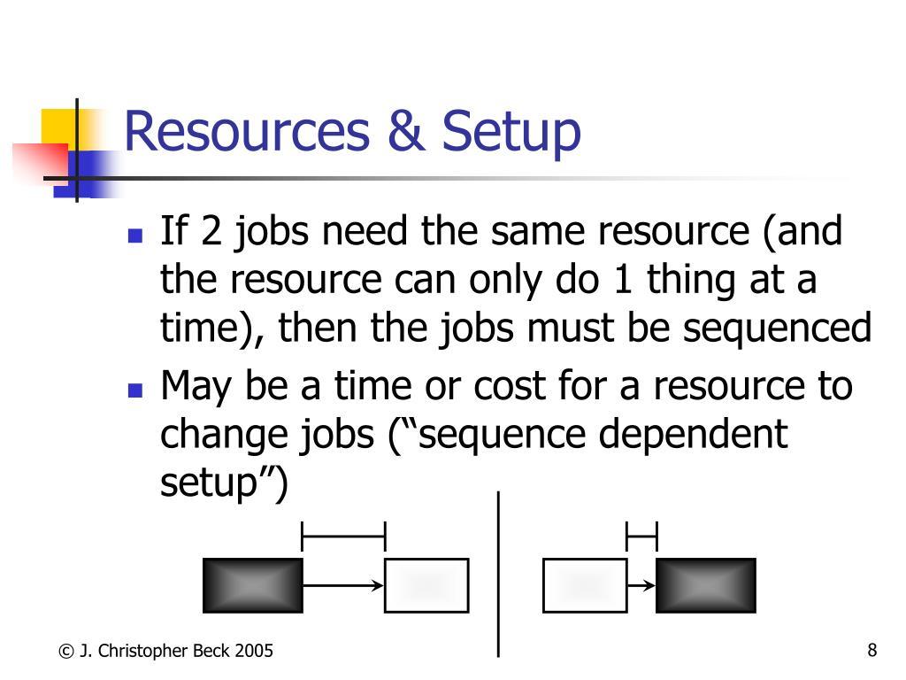 Resources & Setup
